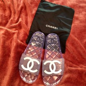 Chanel Clear Slides